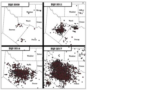 Increase in West Texas Earthquakes