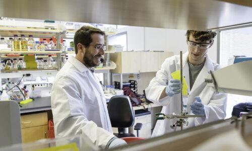 Jason S. McLellan and Daniel Wrapp at the McLellan Lab UT Austin