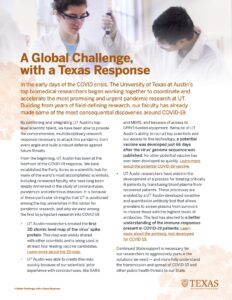 "Screenshot of ""A Global Challenge with a Texas Response"" Handout"